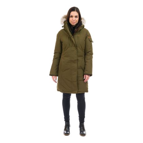 Outdoor Survival Canada Women's Nisto Knee Length Parka - Military Green