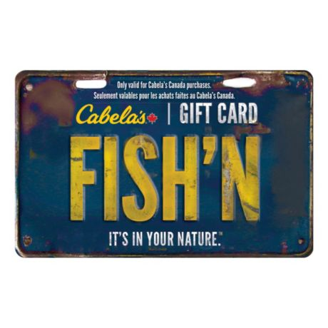 cabela's canada gift card - fish'n | cabela's canada