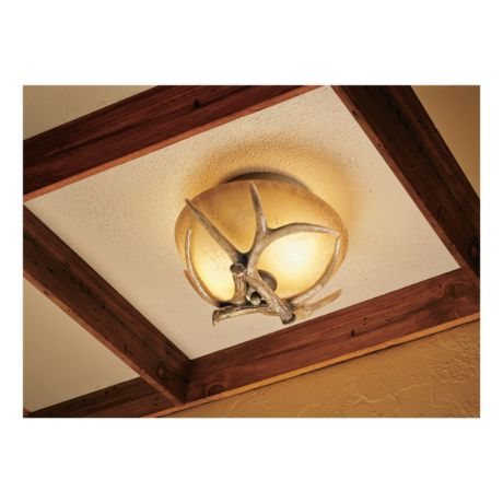 Cabelas antler ceiling light