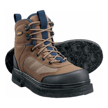 Cabela's Women's Ultralight Felt Sole Wading Boots - Brown/Blue