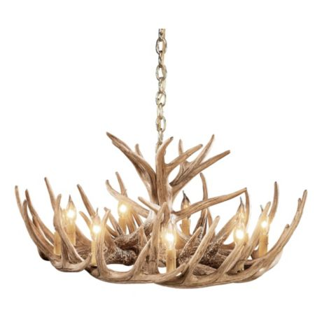 Chandeliers cabelas canada cabelas whitetail 12 antler cascade chandelier mozeypictures Choice Image