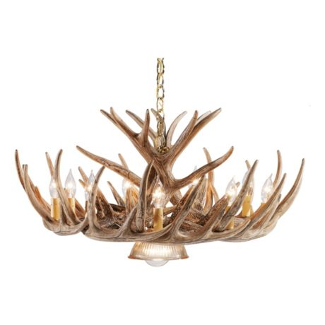 Chandeliers cabelas canada cabelas whitetail cascade w downlight chandelier 12 antler aloadofball Images