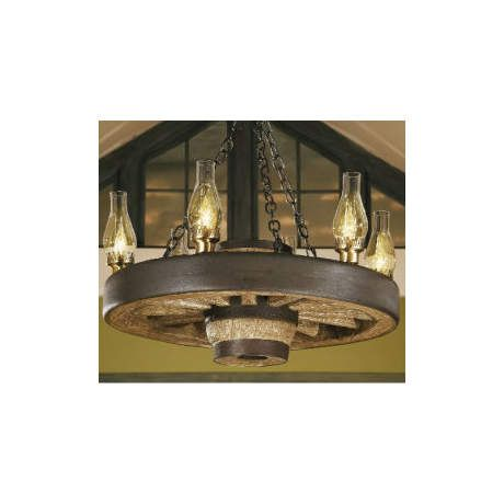Cabela's Wagon Wheel Small Chandelier w/ Up Lights