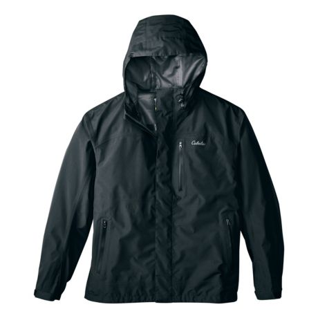 Cabela's Men's Rainy River Parka with GORE-TEX PacLite - Tall - Black