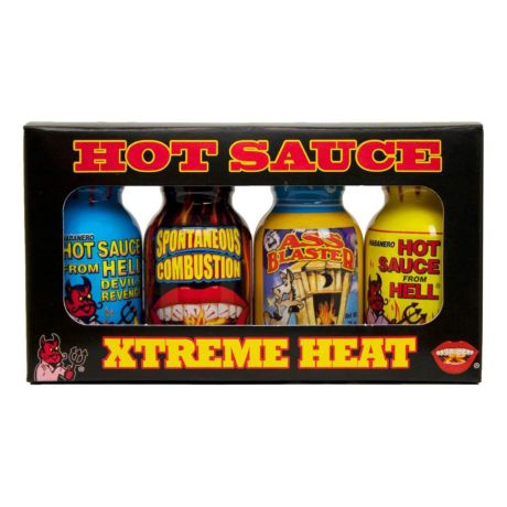 Ass Kickin' Xtreme Mini Bottle Hot Sauce 4-Pack