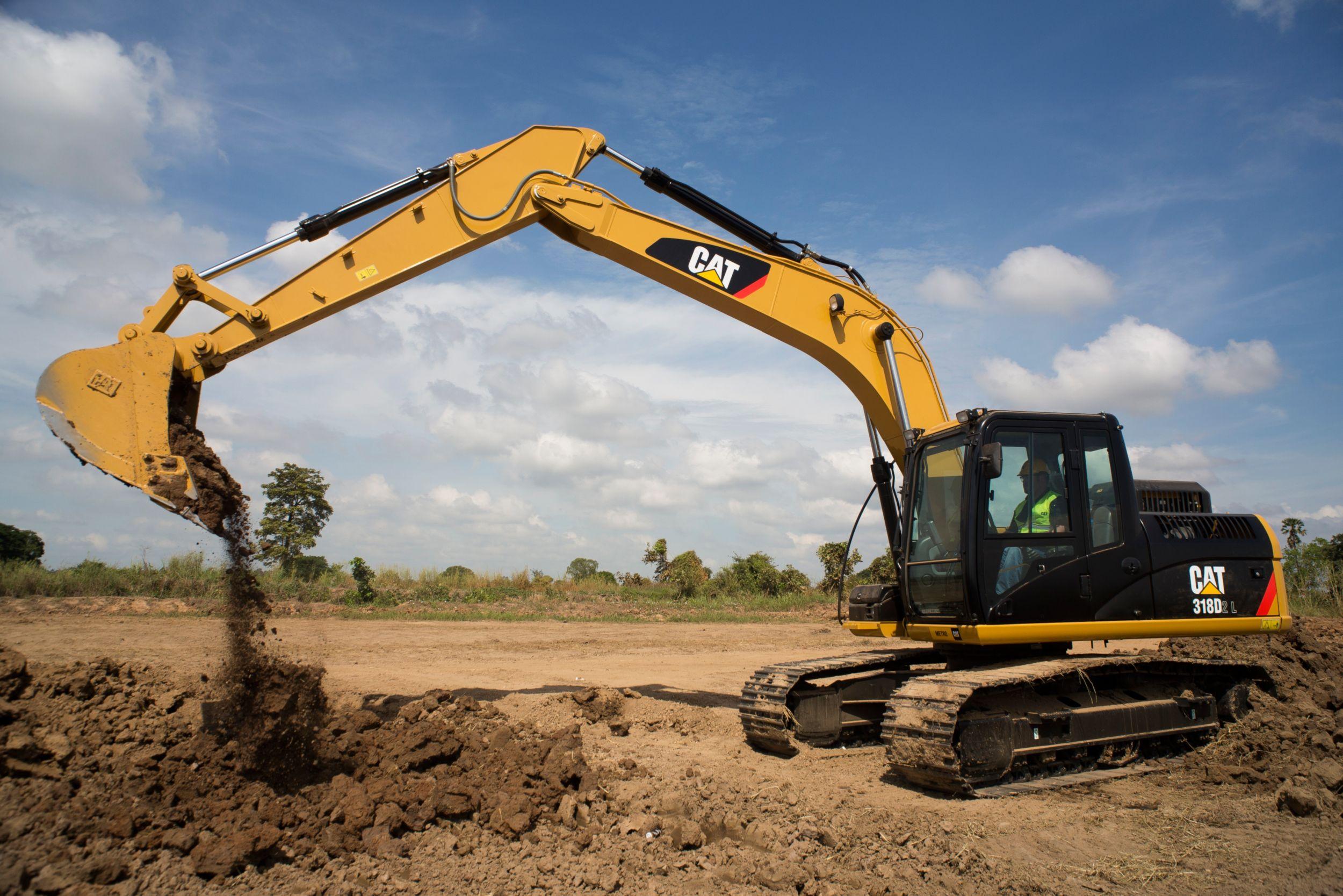 Excavadora Pequeña 318D2 L