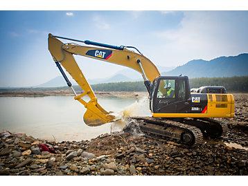 Cat Cat 174 326d2 Excavator Features Heavy Duty Structures