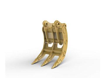 Varillaje C, 3 dientes