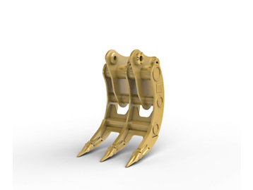 Varillaje B, 3 dientes