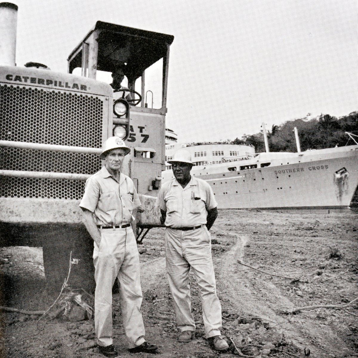 Cat equipment widens Panama Canal in 1963