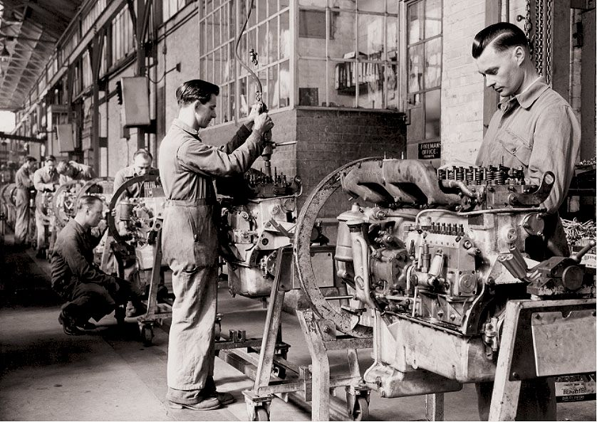 Assembly line in the original Queen Street factory