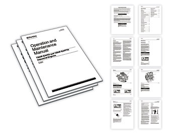 Operation Maintenance Manuals on engine diagrams