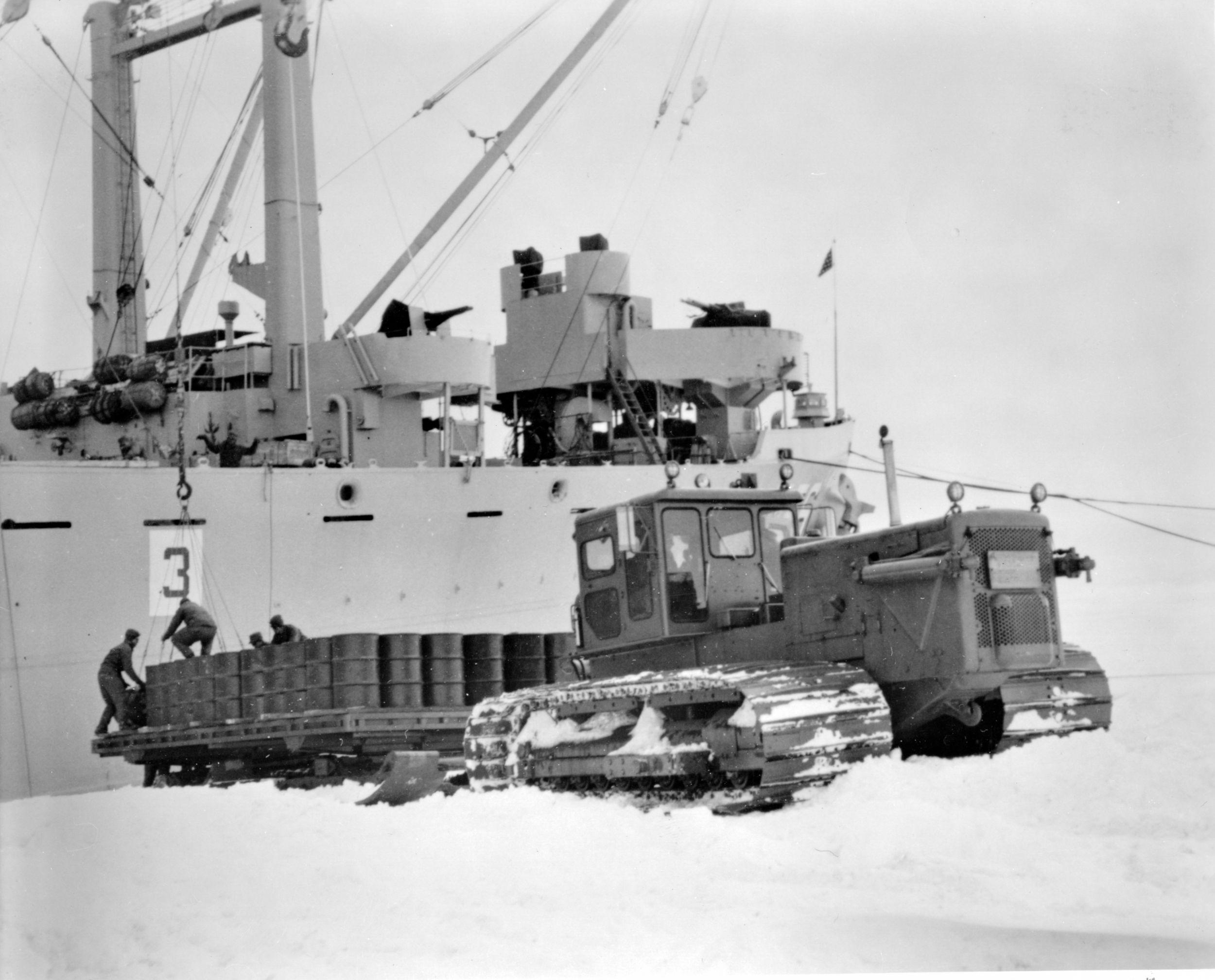 Caterpillar equipment is used for scientific development in Antarctica.