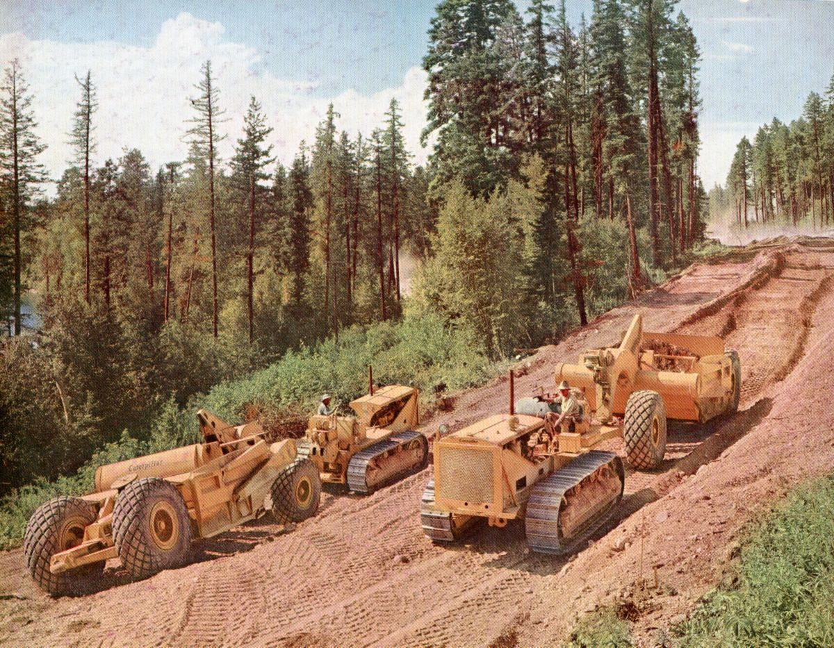 Our machines are hard at work building roads.