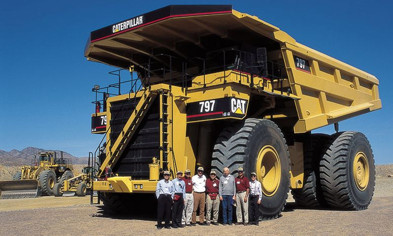 The enormity of this massive machine becomes apparent when it's photographed with people.