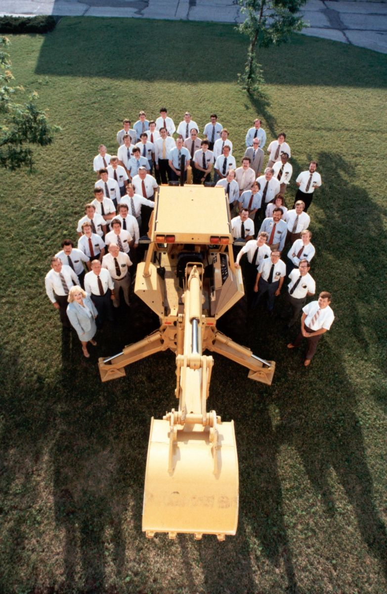Our development team poses with the first 416.
