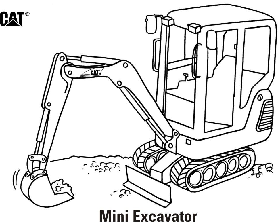 Caterpillar Machine Coloring Pages Coloring Pages