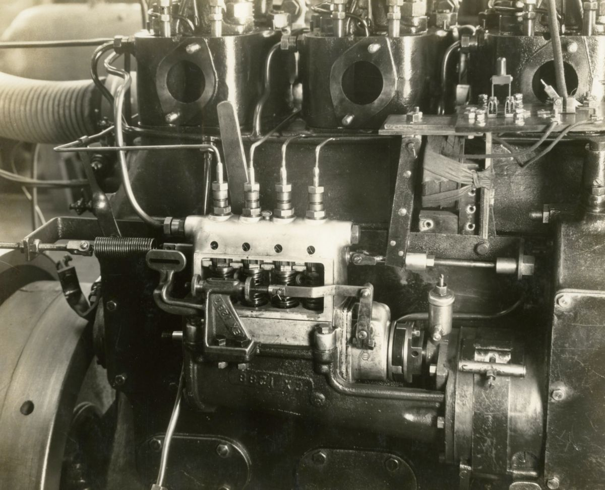 This 1928 prototype diesel engine evolved over time to become 'Old Betsy.'