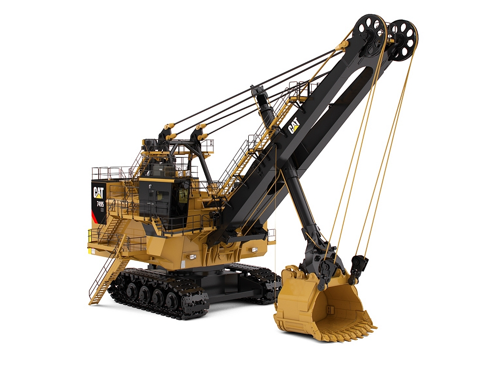 New 7495 hd electric rope shovel for sale whayne cat for Used electric motor shop equipment for sale