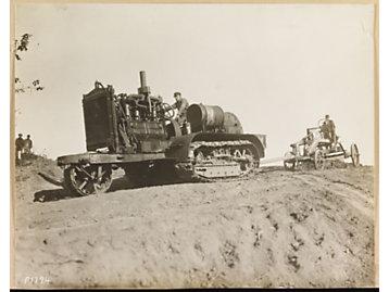 1917 - A Holt Caterpillar 75 horse power tractor.