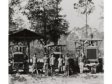 Holt track-type tractors were used by the U.S. Army during World War I.