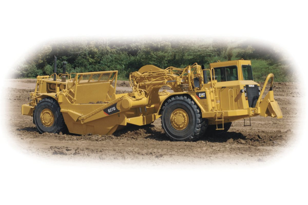 quick loading, high travel speeds and the ability to load and dump on the  run yield fast cycle times, allowing caterpillar wheel tractor- scrapers to