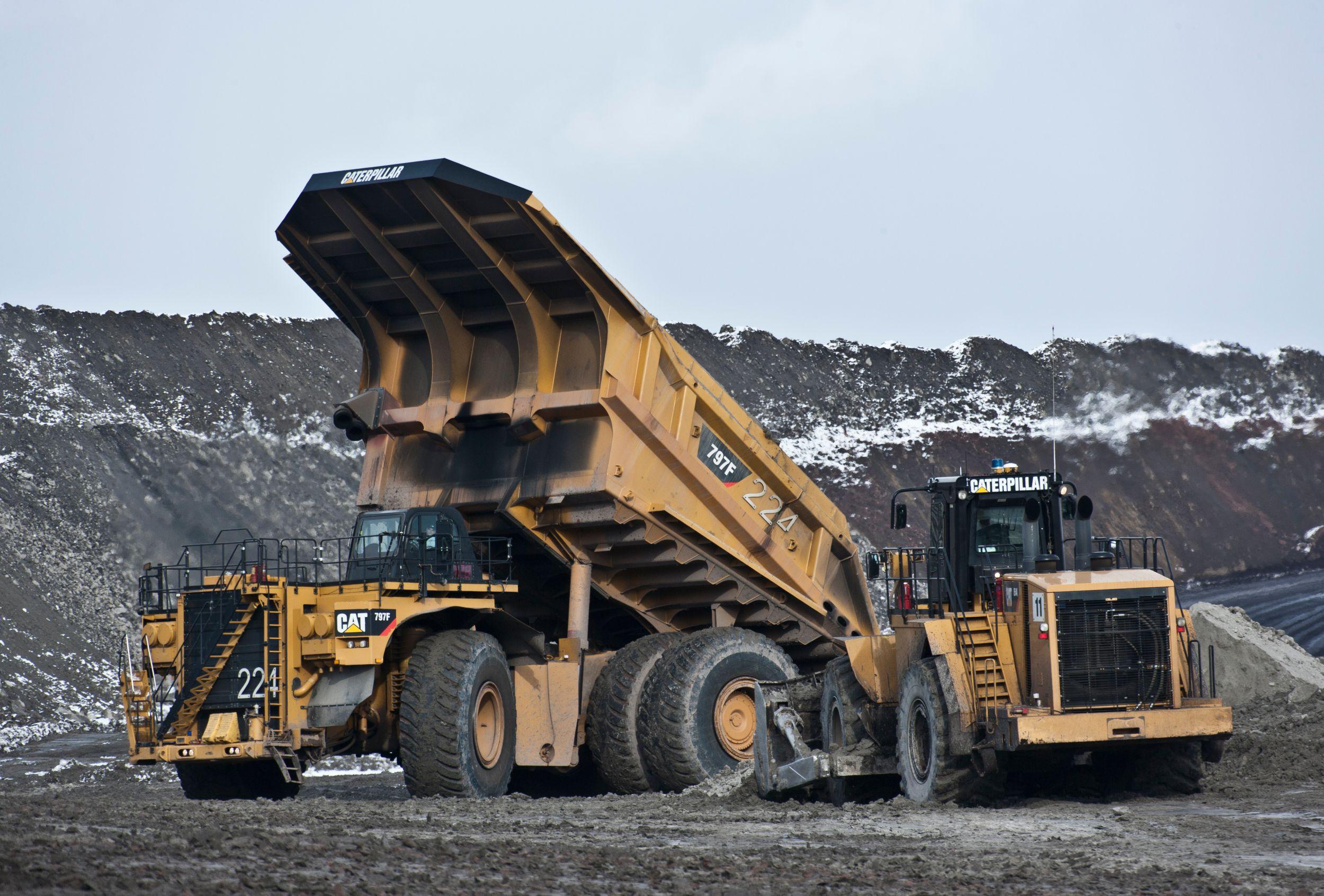 Cat 797f mining highway truck and equipment