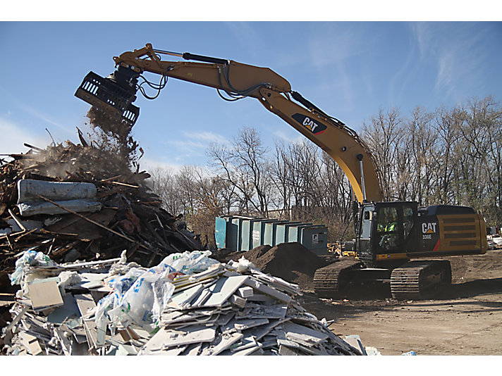 Cat G320b Demo Amp Sorting Grapple Caterpillar