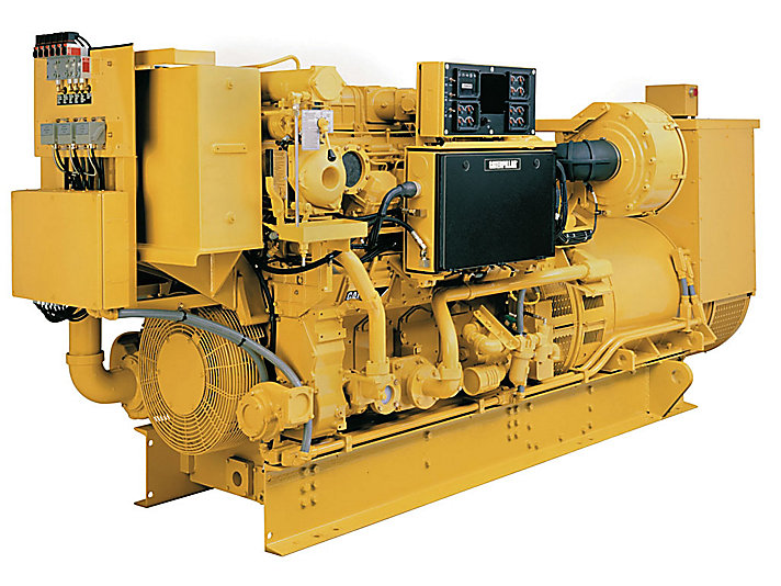 Cat 3512b Marine Auxiliary  Generator Set Engine