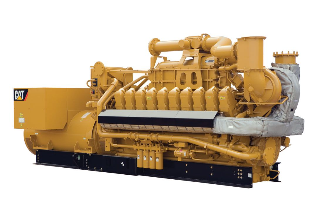 G3520E Gas Generator Sets Rear Left