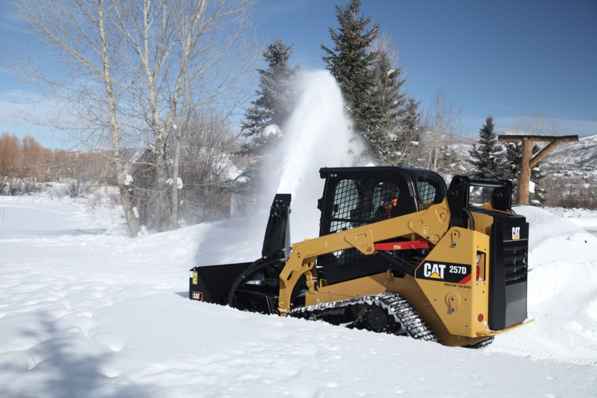 Industrial Snow Thrower : Cat snow blowers equipment attachments alban tractor co