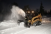 Cat® SR118 Snow Blower Working at Night