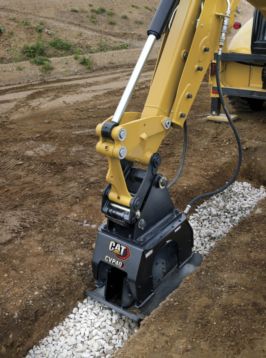 product-CVP40 Compacting Rock in a Trench