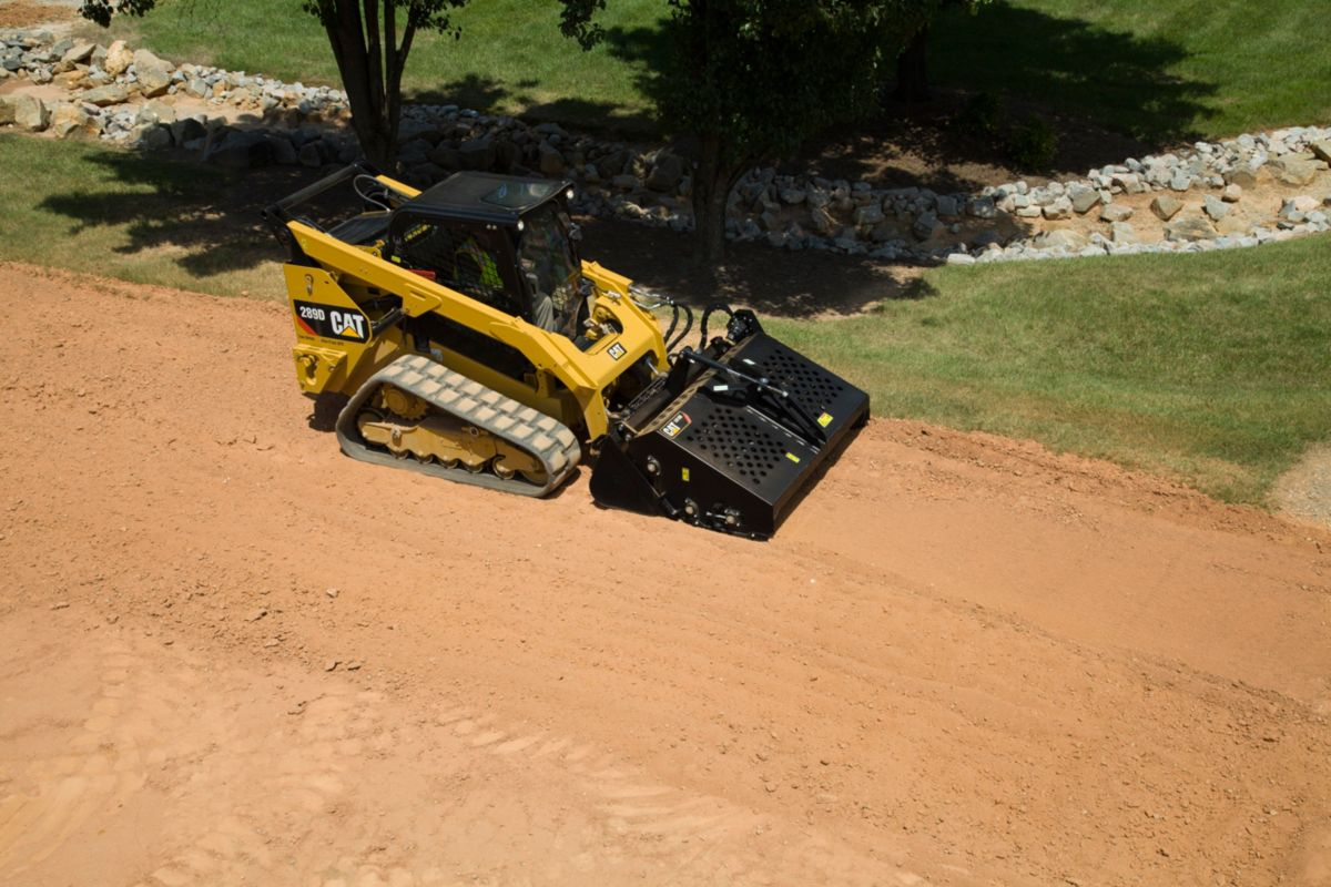 product-Cat® Landscape Rake Making a Pass on the Jobsite