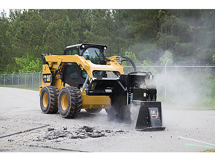 Cat® SW345B Wheel Saw Cutting Concrete