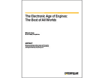 Cat | The Electronic Age of Engines: The Best of All Worlds
