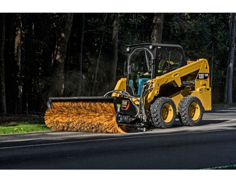 Cat® BA118C Angle Broom at Work