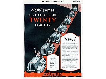 Caterpillar Tractor Co. advertisement, 1928
