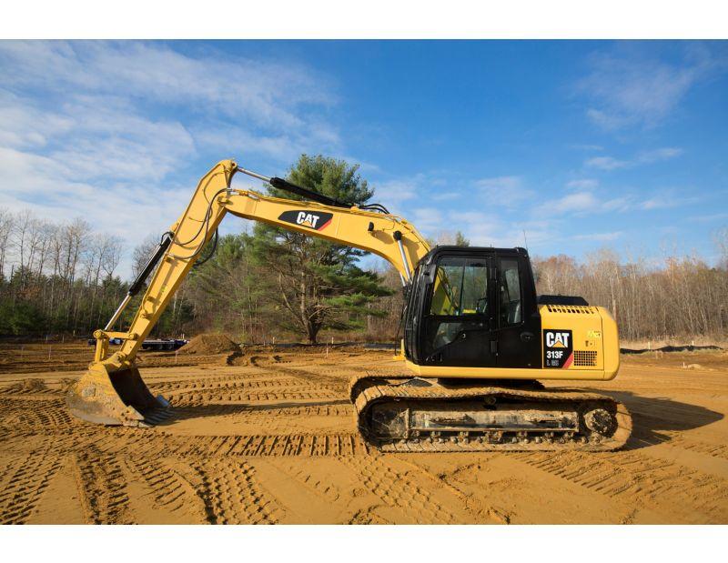 313F GC Hydraulic Excavator left-view