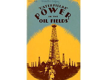Early oil field applications for Caterpillar machines, 1925.