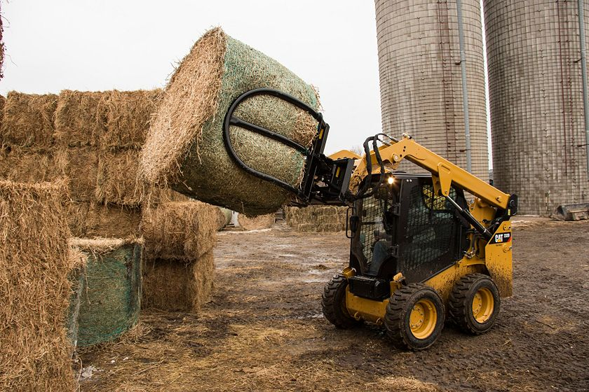 Cat® Bale Grab at Work