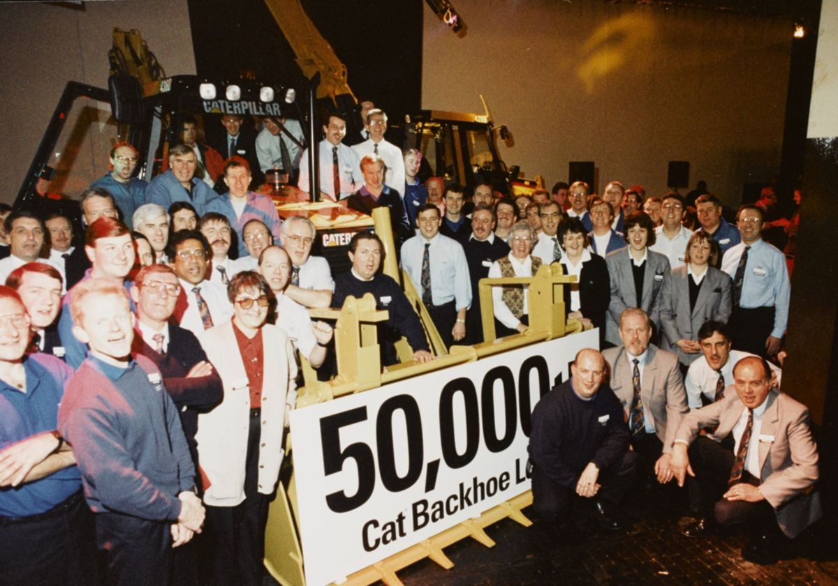 50,000th Cat Backhoe Loader, 1995.