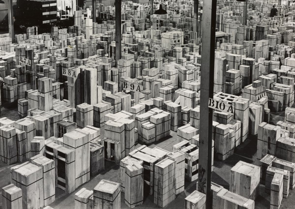 Parts ready for shipping, 1944.