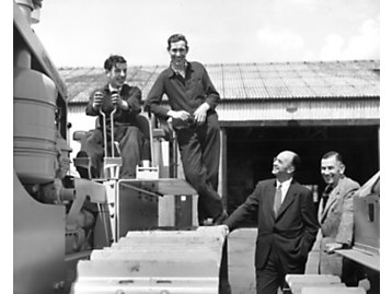 The first Caterpillar tractor produced outside of the United States was built at the Leicester, United Kingdom, plant in 1959.