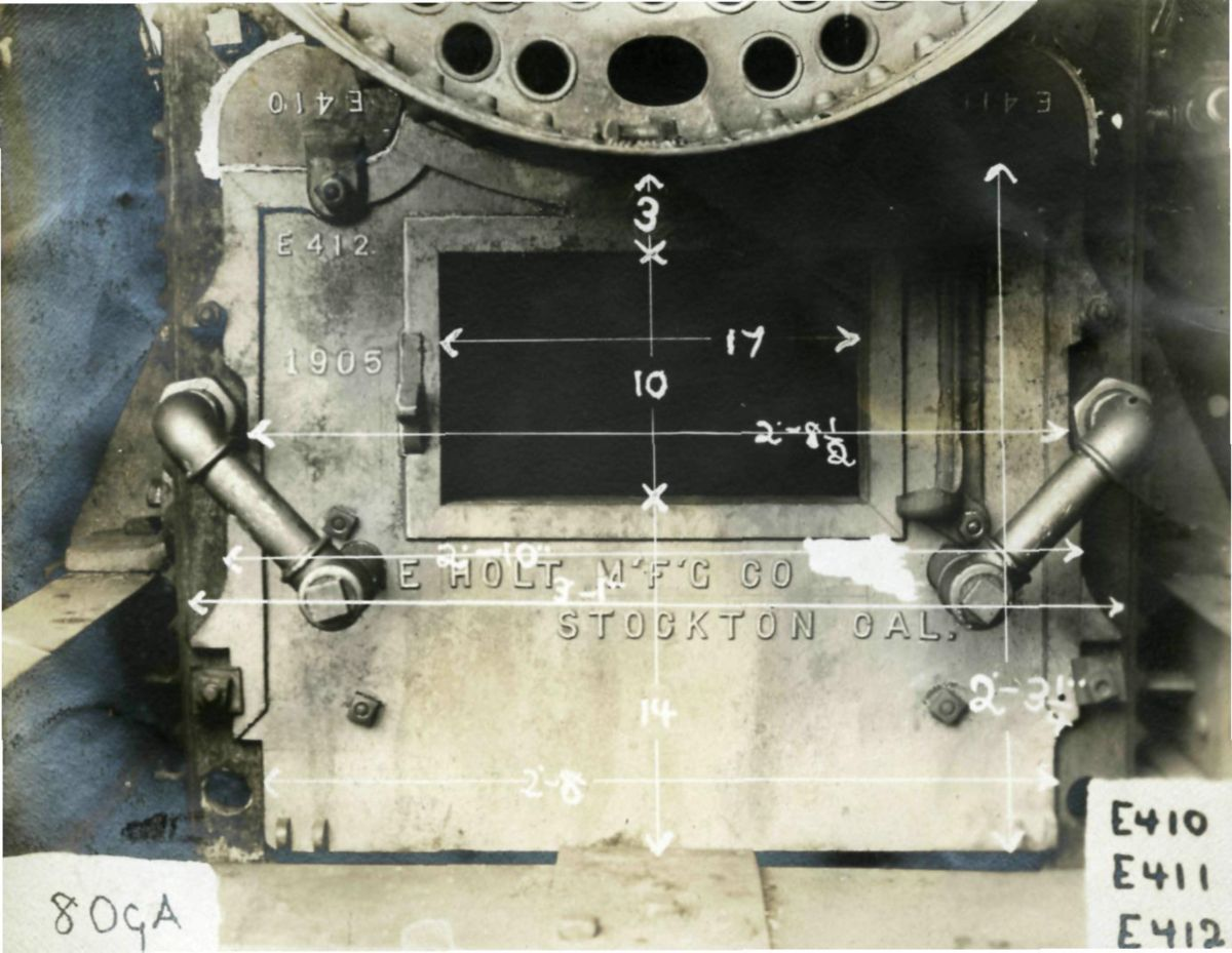 Holt Steam Tractor Components, ca. 1900.
