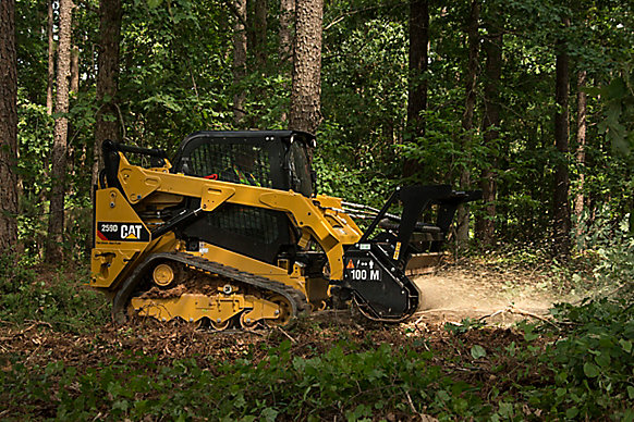 Cat® 259D Compact Track Loader and HM215C Mulcher