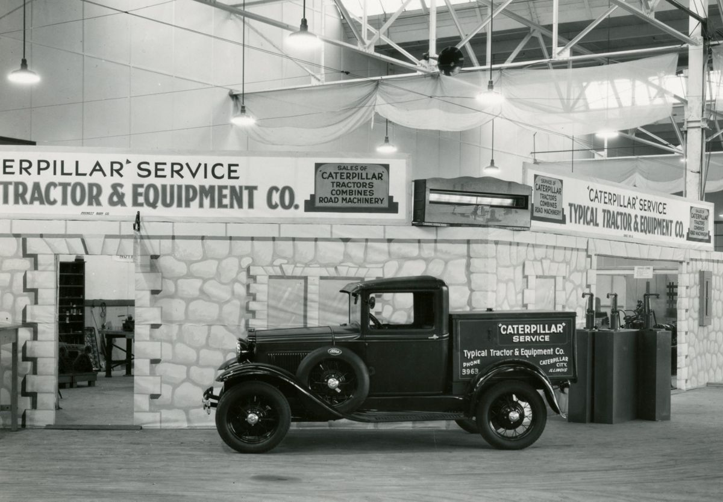Caterpillar Showroom, East Peoria Plant, ca. 1930.