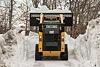 Skid Steer Loader Material Handling Bucket - Dumping Snow