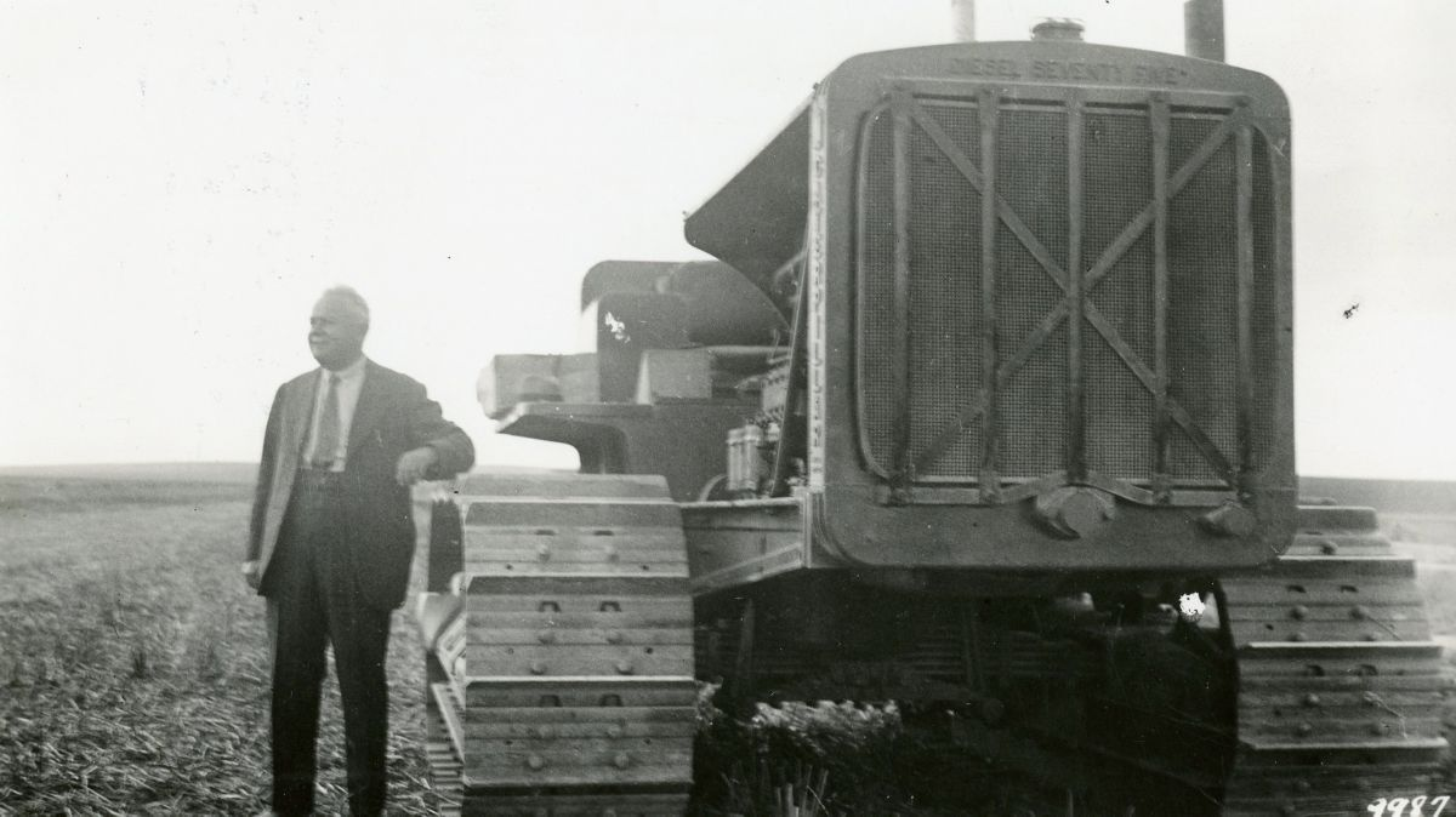 First Caterpillar diesel tractor sold in Africa, 1933.