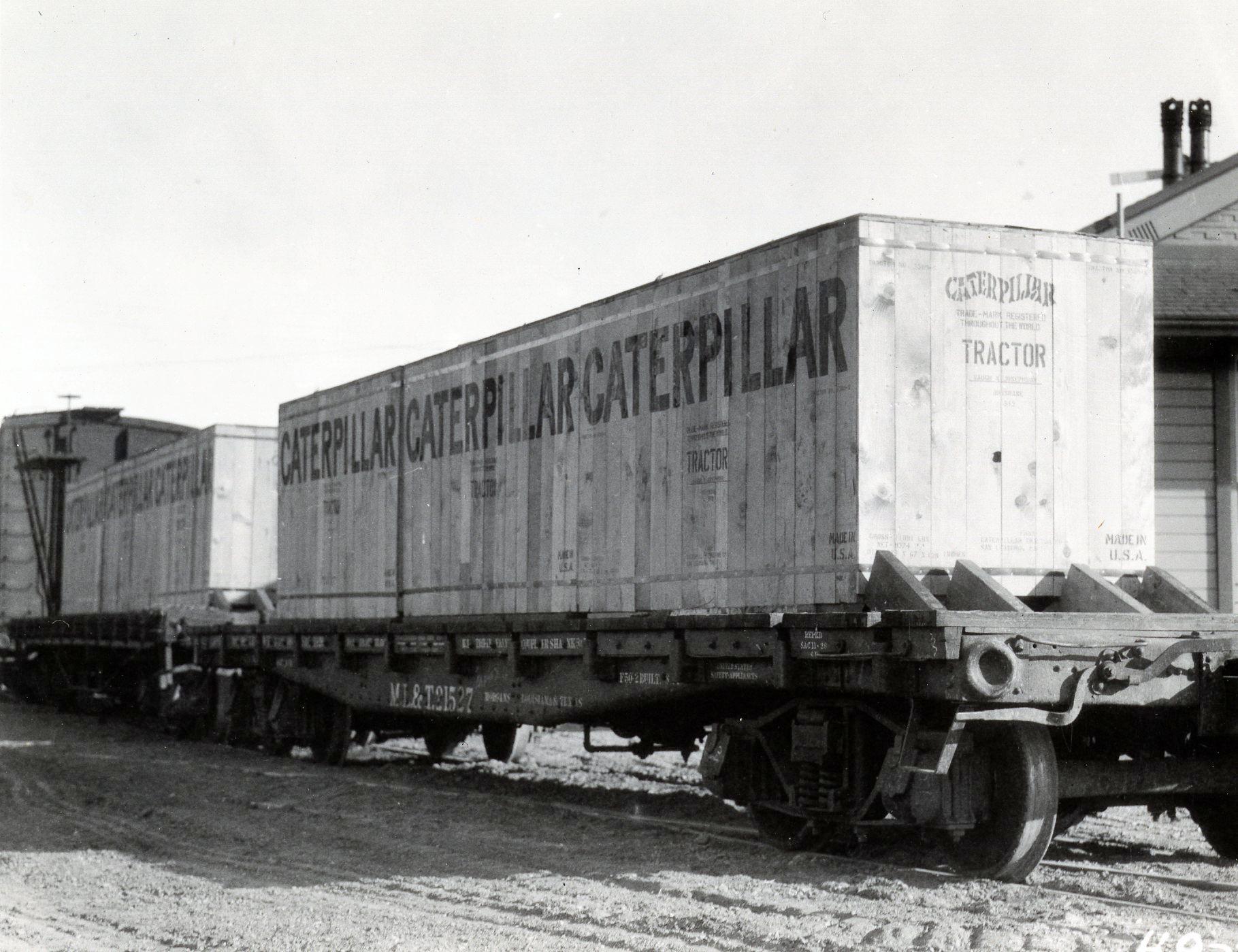 Caterpillar tractors exported to Africa, 1926.